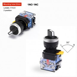 Rotary Switch Button 22mm 2...