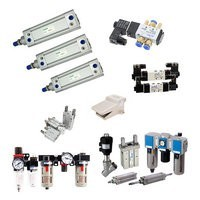 Pneumatic cylinders, values, filters, fittings.